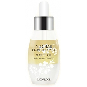 Антиэйдж-сыворотка с цветочным экстрактом Deoproce Yu Chae Flower Honey 3-Step Oil
