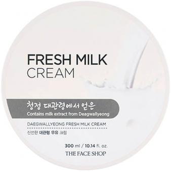 Крем для лица и тела с экстрактом молока The Face Shop Daegwallyeong Milk Fresh Cream