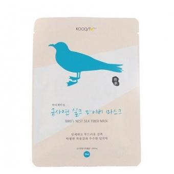 Маска тканевая с вытяжкой ласточкиного гнезда Kocostar Bird's Nest Silk Fiber Mask