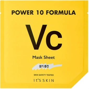Осветляющая маска для лица с витамином С It's Skin Power 10 Formula Vc Mask Sheet