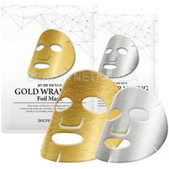 Обертывающая маска-фольга Secret Key Gold Wrapping Foil Mask