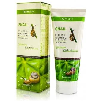 Очищающая пенка FarmStay Snail Pure Cleansing Foam