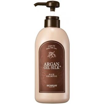 Шампунь для волос с аргановым маслом SkinFood Argan Oil Silk Plus Shampoo