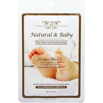 Пилинг-маска для ног Anskin Natural Baby Foot Peeling Mask / Sheet