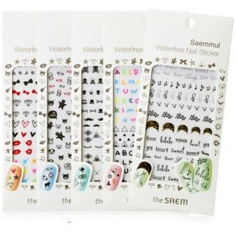 Водостойкие стикеры для маникюра The Saem Saemmul Waterfree Nail Sticker