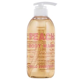 Гель для душа с экстрактом персика и коллагеном Hello Everybody Peach Body Wash