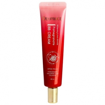 ББ-крем с экстрактом граната Deoproce Anti-Wrinkle And Whitening Pomegranate BB Cream SPF50+/PA+++