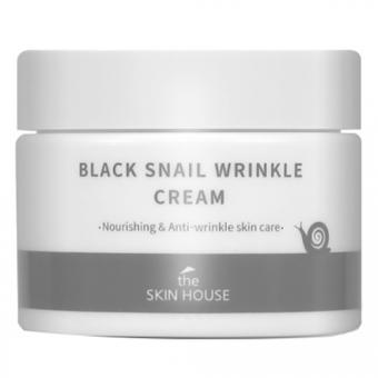 Антивозрастной крем для лица с муцином черной улитки The Skin House Black Snail Wrinkle Cream