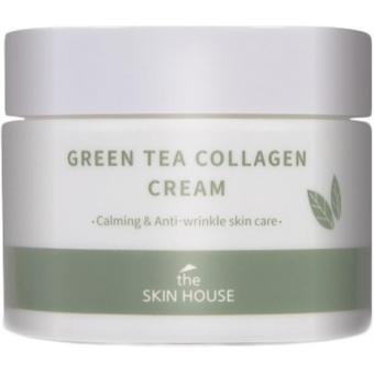 Успокаивающий крем для лица на основе коллагена и экстракта зелёного чая The Skin House Green Tea Collagen Cream
