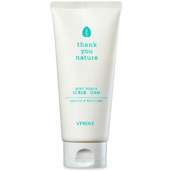 Освежающая пенка с экстрактом мяты Vprove Thank You Nature Mint Power Scrub Foam Gentle And Moisture
