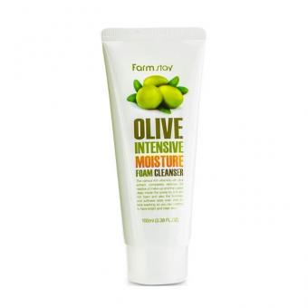 Оливковая пенка для умывания FarmStay Intensive Moisture Foam Cleanser