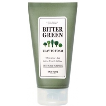 Очищающая пенка с глиной Skinfood Bitter Green Clay To Foam