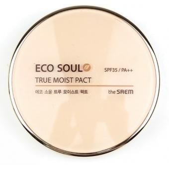 Увлажняющая пудра The Saem Eco Soul True Moisture Pact