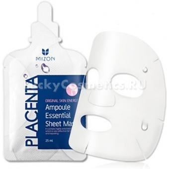 Тканевая плацентарная маска Mizon Ampoule essential sheet mask - placenta