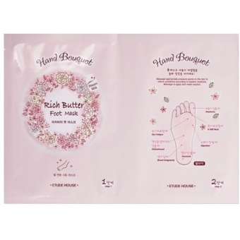 Маска для ног Etude House Hand Bouquet Rich Butter Foot Mask