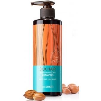 Шампунь с маслом арганы The Saem Silk Hair Argan Intense Care Shampoo