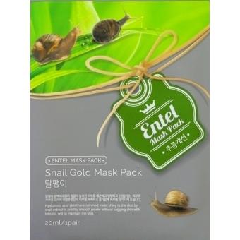 Тканевая маска для лица с улиточным муцином Entel Snail Mask Pack