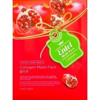 Маска тканевая для лица с вытяжкой граната и коллагеном Entel Pomegranate Collagen Mask Pack