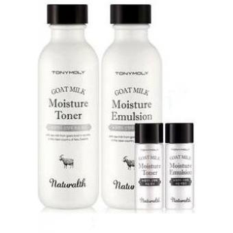 Набор средств для ухода за кожей Tony Moly Naturalth Goat Milk Whitening 2Set