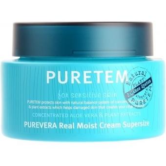Крем для лица и шеи Welcos Puretem Purevera Real Moist Cream Super Size