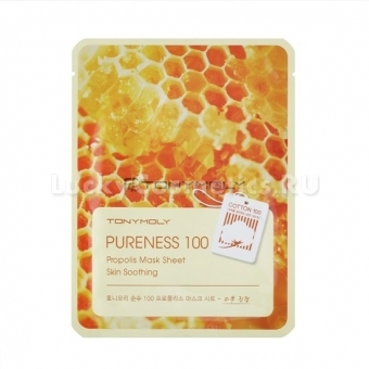 Тканевая маска для лица с прополисом Tony Moly Pureness 100 Propolis Mask Sheet