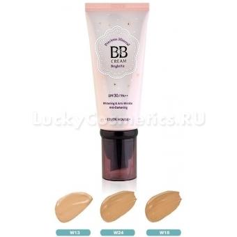 ББ крем  с жемчужной пудрой, оттенок №24 (медовый беж) Etude House Precious Mineral BB Cream Bright Fit W24