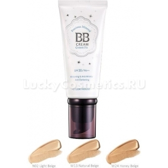 ББ крем  с жемчужной пудрой Etude House Precious Mineral BB Cream Cotton Fit Natural