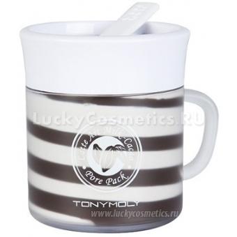 Маска для сужения пор и интенсивного питания Tony Moly Latte art milk cacao pore pack