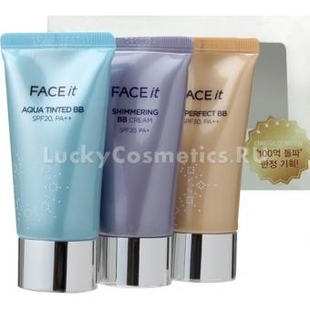 Набор из 3 миниатюрных кремов The Face Shop Face it best BB collection