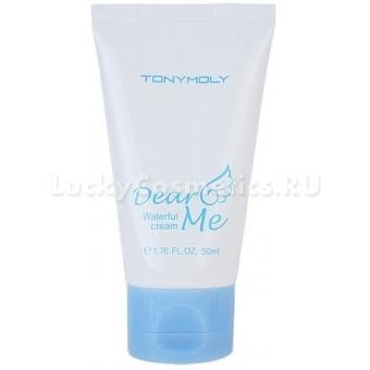Увлажняющий крем для лица с экстрактом хлопка Tony Moly Dear me waterful cream