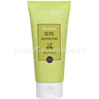 Пенка для умывания  с экстрактом оливы Holika Holika Daily Garden Olive Cleansing Foam