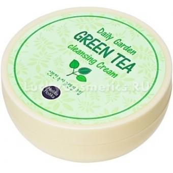 Очищающий крем с экстрактом зеленого чая Holika Holika Daily Garden Green Tea Cleansing Cream
