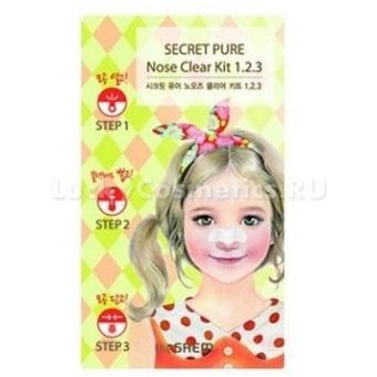 Трехступенчатые очищающие полоски для носа The Saem Secret Pure Nose Clear Kit 1•2•3