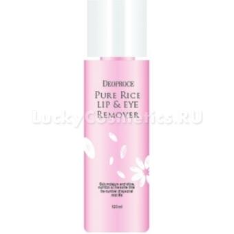 Лосьон на рисовой воде для снятия макияжа Deoproce Pure Rice Lip &Eye Remover