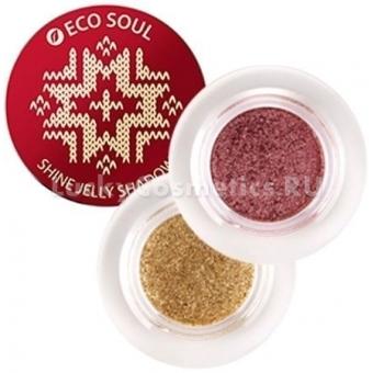 Мерцающие желеобразные тени The Saem  Eco Soul Shine Jelly Shadow