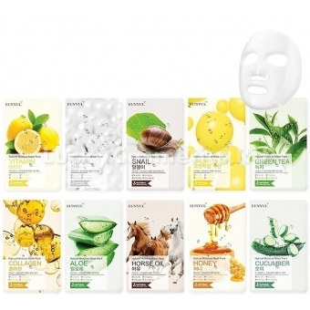 Тканевая маска с экстрактом алоэ Eunyul Natural Moisture Mask Pack Aloe