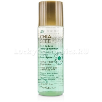 Средство для демакияжа губ и глаз The Face Shop Chia Seed Fresh Lip And Eye Make-Up Remover