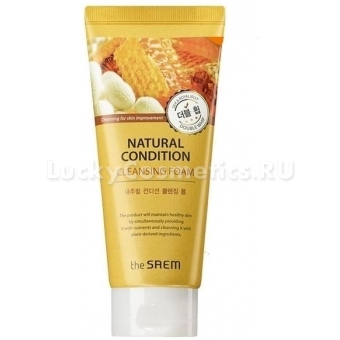 Очищающая пенка The Saem Natural Condition Cleansing Foam Double Whip