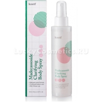 Спрей для проблемной кожи тела Koelf Madecassoside Clarifying Body Spray