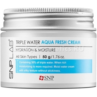 Освежающий гель-крем SNP Lab+Triple Water Fresh Gel Cream
