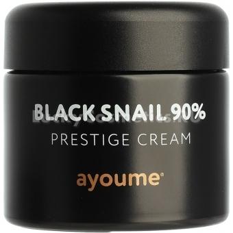 Крем для лица с улиточным муцином Ayoume 90% Black Snail Prestige Cream