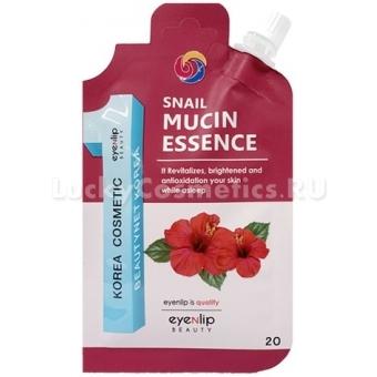 Ночная эссенция с муцином и аминокислотами Eyenlip Pocket Pouch Line Snail Mucin Essence