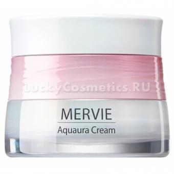 Осветляющий гель-крем с розовым планктоном The Saem Mervie Aquaura Cream