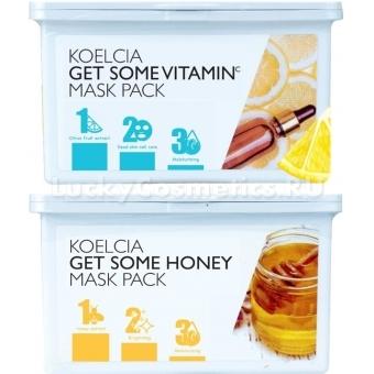 Набор тканевых масок для курсового применения Koelcia Get Some Mask Pack