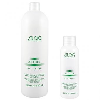 Окислительная эмульсия с экстрактом женьшеня и рисовыми протеинами Kapous Studio Professional Actiox Emulsion 9%