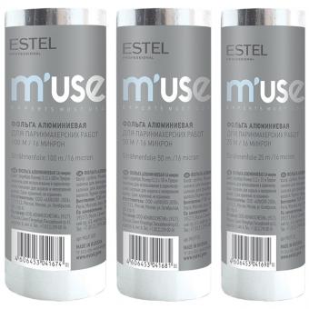 Фольга алюминиевая Estel Muse фольга алюминиевая для парикмахерских работ 16 микрон