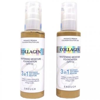 Увлажняющий тональный крем с коллагеном Enough Collagen 3 In 1 Whitening Moisture Foundation SPF15