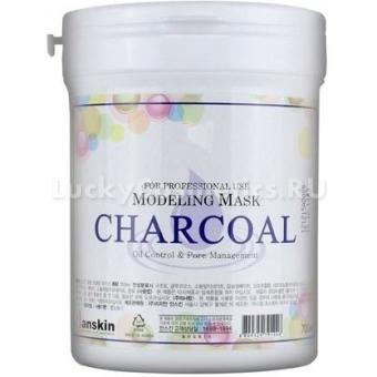 Альгинатная маска с углем Anskin Charcoal Modeling Mask  / container