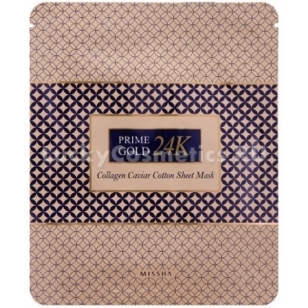 Маска-салфетка с икрой и золотом Missha Cotton Sheet Mask