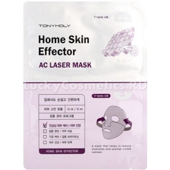 Тканевая маска для чувствительной кожи Tony Moly  Home Skin Effector AC Laser Mask